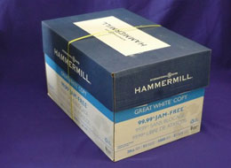 Box of Hammermill copy paper