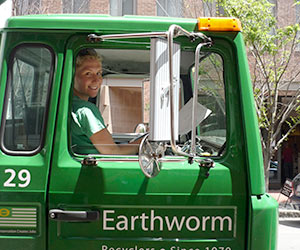Photo of one of Earthworm's truck cab